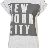 NY Block Roll Back Tee - Jersey Tops  - Apparel