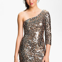 As U Wish One Shoulder Sequin Dress (Juniors) | Nordstrom