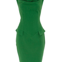 Green cowl neck dress - View All  - Dresses  - Dorothy Perkins