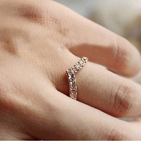 foreign trade sweet cute chic fashion unique design little finger ring rings