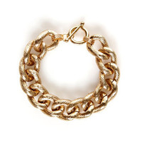 Pretty Gold Bracelet - Chain Bracelet - Link Bracelet - $15.00