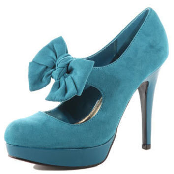 Teal bow platform shoes - View All Shoes  - Shoes  Boots  - Dorothy Perkins