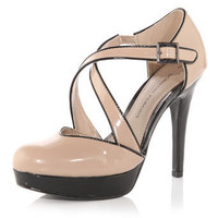 Nude crossover platform shoes - Heels - View All Shoes  - Shoes  Boots - Dorothy Perkins