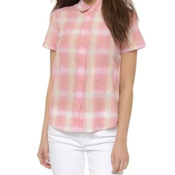 Marc by Marc Jacobs Blurred Gingham Blouse