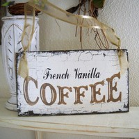 FRENCH VANILLA COFFEE Shabby Cottage Kitchen by thebackporchshoppe