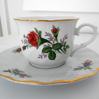 Teacup and Saucer Rose Floral Truly Tasteful