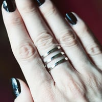Size 6 , Sterling Silver, Handmade Jewelry, Triple Ring Ring, Band, Stacking Ring, Statement Ring, Ready To Ship!