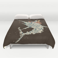 Cold Blooded Ocean Duvet Cover by Budi Satria Kwan