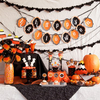 PRINTABLE FULL PARTY Orange & Black Traditional by lovetheday