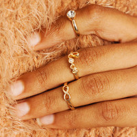 infinity love ring trio GOLD