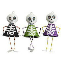 Pier 1 Imports - Product Details - Assorted Glitter Skeleton Ornaments
