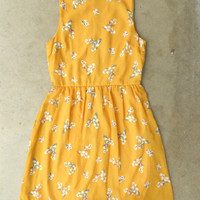 Blooming Canary Dress [3135] - $33.30 : Vintage Inspired Clothing &amp; Affordable Fall Frocks, deloom | Modern. Vintage. Crafted.