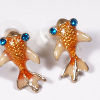 Mini Koi Fish Earrings