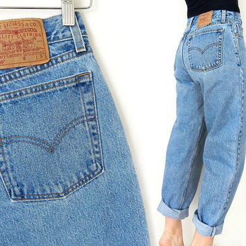 """Vintage 80s 90s High Waisted Levi's 560 Women's Jeans - Size 8 - Stone Washed Women's Loose Fit Boyfriend Jeans - 29"""" Waist"""