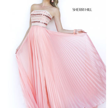 Sherri Hill Long Chiffon Prom Gown 32182