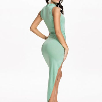 High Neck Side Rouched Dress, Club L