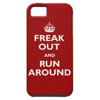 Freak Out & Run Around iPhone 5 Case from Zazzle.com