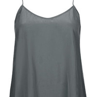 Sandwashed Silk Cami by Boutique - Grey