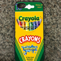 iPhone 5 Crayon Hard Custom iPhone 5 Case Available in Black