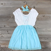 Tied Chiffon Dress in Mint, Sweet Women's Country Clothing