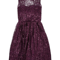 Alice + Olivia Metallic Lace Dress - LoLoBu