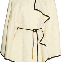 Etro Chiffon-trimmed Wool-blend Cape - LoLoBu