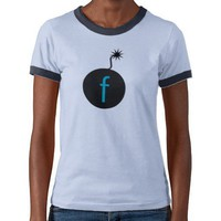 safely drop the f-bomb on casual day tees from Zazzle.com