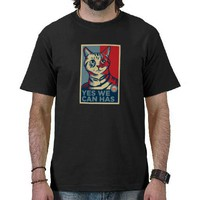 Yes We Can Has T Shirts from Zazzle.com
