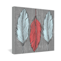 DENY Designs Home Accessories | Wesley Bird Feathered Gallery Wrapped Canvas