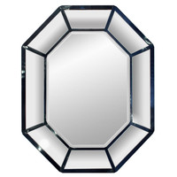 Large Blue Lacquer Mirror by Karl Springer at 1stdibs
