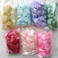 WHOLESALE Kawaii Cabochons 700 Hearts B DecoSweets by DecoSweets