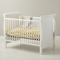 The Land of Nod: Baby Cribs: Baby White Sleigh Crib in Cribs