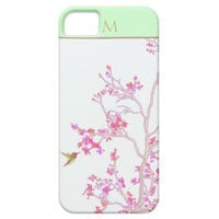 Monogrammed Hummingbird iPhone 5   Case Mate iPhone 5 Cover from Zazzle.com