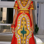Royal Blue Empire Waist Dashiki Dress