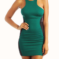 two-tone-dress HGREEN IVORY - GoJane.com