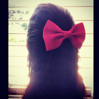 Pink BIG hair bow
