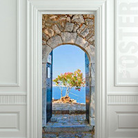 "GIANT Door Wall STICKER greece greek arch decole film poster 31x79"" (80x200 cm)"