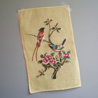 vintage needlepoint birds and flowers by KatyBitsandPieces on Etsy