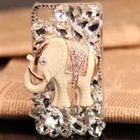 iPhone 5  4S 4G 3GS animals case white elephant birthday gift for her - Apple iPhone Cases - Phone Cases Rhinestones iPhone 5 4S 3GS Cases, Couple Necklaces / Wedding Rings & Uncommon Gift Ideas - Worldwide Shipping