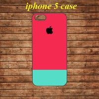 iphone 5 case,iphone 5 hard case,iphone 5 cover,iphone 5 hard cover---Pink Blue Stripes,in plastic