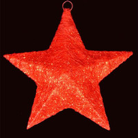 Christmas Star Yard Art - Glitter And Crystals Woven In