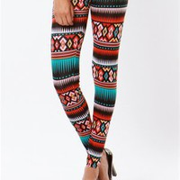 A'GACI Pretty Bold Tribal Legging - BOTTOMS