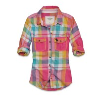 Abercrombie & Fitch - Shop Official Site - Womens - Clearance - Plaid Shirts - Zoe
