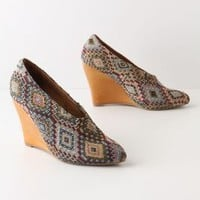 Diamond Brocade Wedges - Anthropologie.com