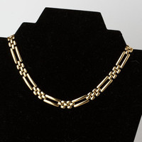 Vintage Napier Necklace Gold Tone Pat. Pend.