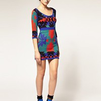 ASOS | ASOS Knitted Body-Conscious Dress in Navajo Pattern at ASOS
