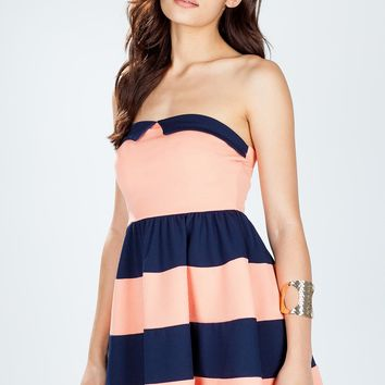 Kendall Colorblock Flare Dress