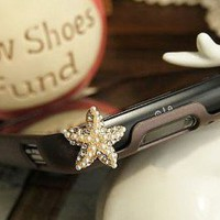 Star Fish Phone Jack Plug (Dust Plug) | LilyFair Jewelry