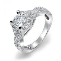 Bling Jewelry .925 Sterling Silver Vintage Style Infinity Round CZ Engagement Ring: Jewelry: Amazon.com