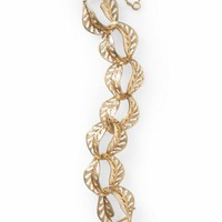 Tinley Road Antique Gold Leaf Bracelet | Piperlime